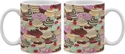 Artifa Cupcakes Texture Porcelain, Ceramic Mug