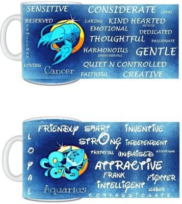 CreativesKart Zodiac Cancer (M) Aquarius (F) Compatibility  Ceramic Mug