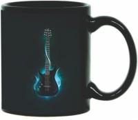 Printland Printland Guitar Black Coffee 350 - ml Ceramic Mug(350 ml) best price on Flipkart @ Rs. 349