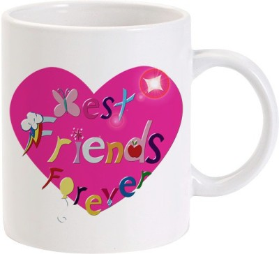 Lolprint Best Friend Forever Heart Ceramic Mug