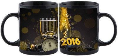 Shoperite Happy New Year clocks 2016 Ceramic Mug