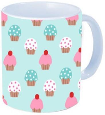 Rawkart Cupcake pattern Ceramic Mug