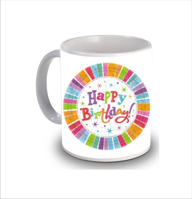 Print Hello Happy Birthday Cake b250 Ceramic Mug
