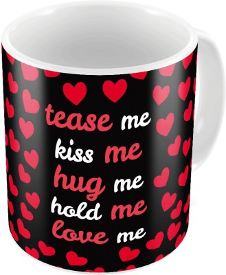 Little India Black Print Coffee  n Filled Cushion Pair 341 Ceramic Mug