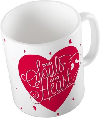 Little India Designer Romantic White Color Coffee  650 Ceramic Mug