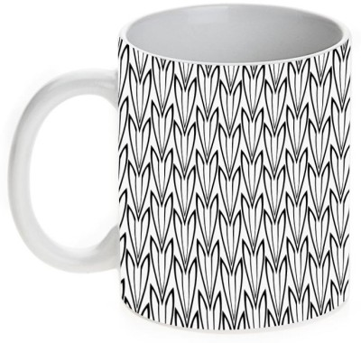 Mugwala Designer Black & White Ceramic Mug
