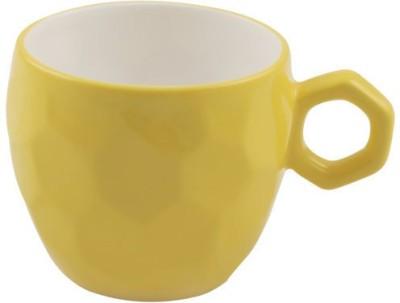 BP Bharat Football Yellow Bone China Mug