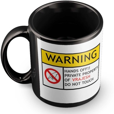 posterchacha Vrajesh Do Not Touch Warning Ceramic Mug