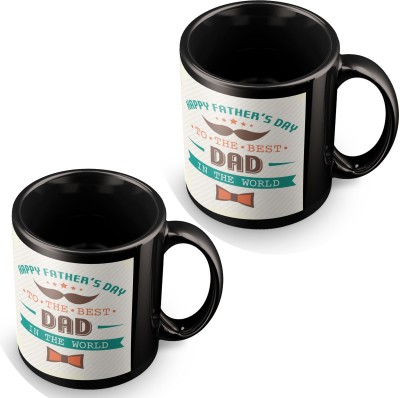 posterchacha To The Best Father In The World Fathers Day Black Tea And Coffee Gift For Fathers Day Ceramic Mug
