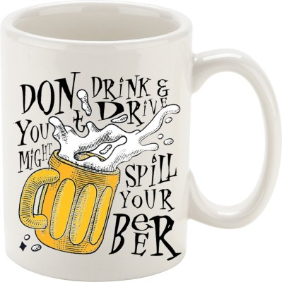 Oh Fish DONT DRINK & DRIVE GRAPHIC PRINTED COFFEE Ceramic Mug