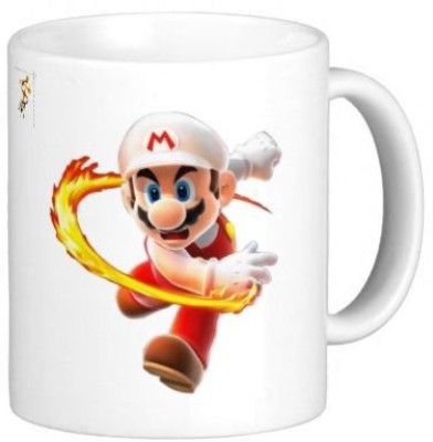 G&G Mario Playing With Fire Ceramic Mug