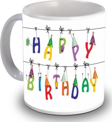 Print Helllo Happy Birthday R176 Ceramic Mug