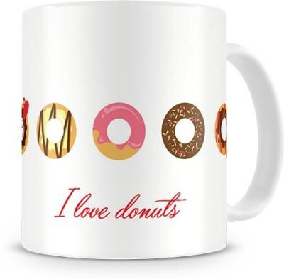 Print Haat I Love Donuts Ceramic Mug