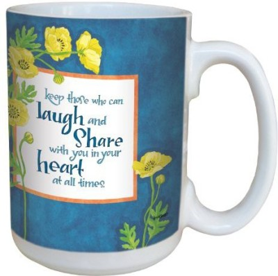 Tree-Free Greetings Greetings lm43487 Vibrant Yellow Poppies by Robin Pickens Ceramic  with Full-Sized Handle, 15-Ounce Ceramic Mug