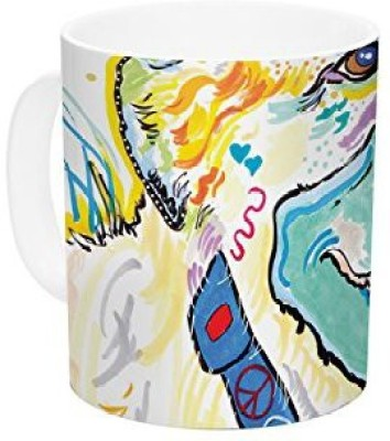 Kess InHouse InHouse Rebecca Fischer Milo Ceramic Coffee , 11 oz, Multicolor Ceramic Mug