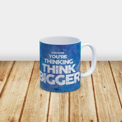 InstaNote Whatever You are Thinking Think Bigger Ceramic Mug