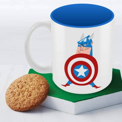 Marvel Captain America -text Officially Licensed Ceramic Mug