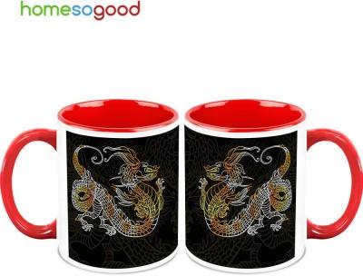HomeSoGood Angry Dragon (2 s) Ceramic Mug