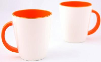 Hi Luxe Ivory Melamine 43052 Ivory - Orange Melamine Mug