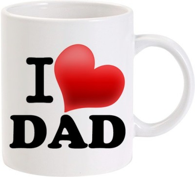 Lolprint 147 I Love DAD Fathers Day Gift Ceramic Mug
