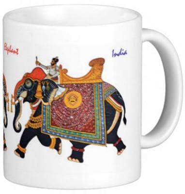 Lion Souvenirs Royal Elephants Coffee / Tea  Ceramic Mug