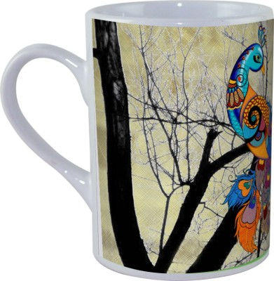 Kolorobia Peacock Cream Ceramic Mug