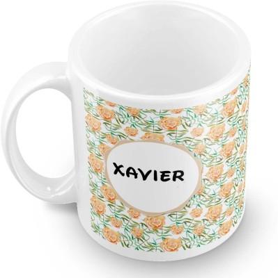 posterchacha Xavier Floral Design Name  Ceramic Mug