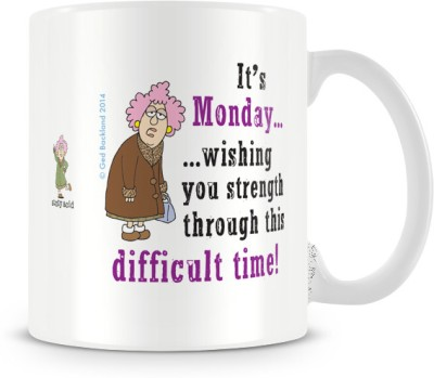 Tashanstreet Aunty Acid Its Monday Ceramic Mug