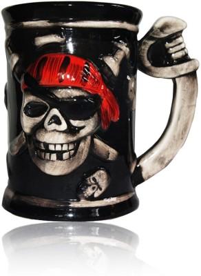 DRL DRL Pirate Skull Beer  Porcelain Mug