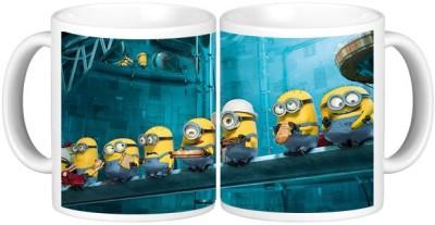 Shopmillions Happy Minions Ceramic Mug