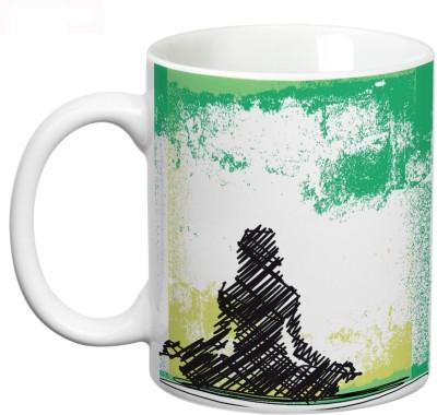 Mugwala Abstract Sketching Yoga Ceramic Mug