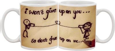 Goonlineshop I wan,t Give Up Ceramic Mug