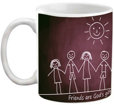 EFW FRIENDSHIP - FRIENDS ARE THE GODS GIFT QUOTES Ceramic Mug