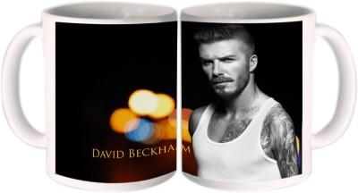 Shopkeeda FIFA 2014 David Beckham Angry Look Ceramic Mug