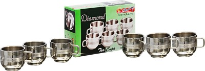 MiLi DIAMOND DOUBLE WALL TEA CUP SET Stainless Steel Mug
