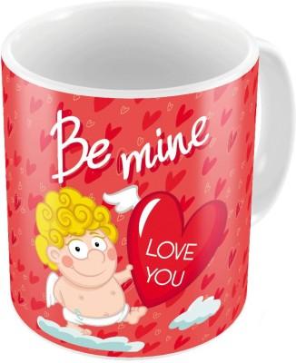 Indiangiftemporium Cute Red Designer Printed Coffee s Pair 729 Ceramic Mug