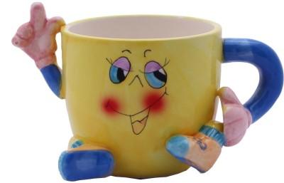 Aarzool 3 Dimension HI saying Ceramic Mug