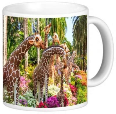Rikki Knight LLC Knight Ceramic Coffee , Giraffe Statue Ceramic Mug