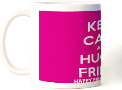 Rockmantra Hug A Friend Happy Friendship Day Ceramic Mug