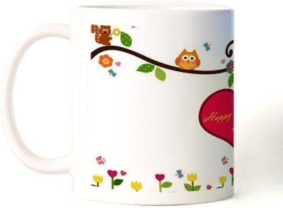 Rockmantra Owl Happy Friendship Day Ceramic Mug