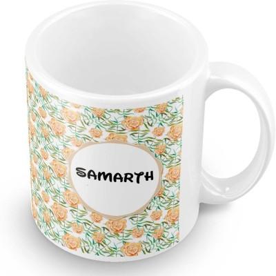 posterchacha Samarth Floral Design Name  Ceramic Mug