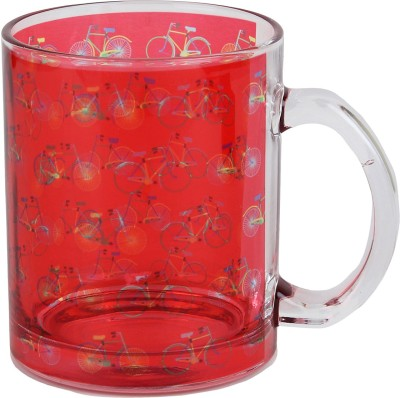 Keep Calm Desi Bicycle Clear  Glass Mug
