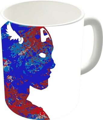 The Fappy Store A Splash Of Heroism Captain America Ceramic Mug