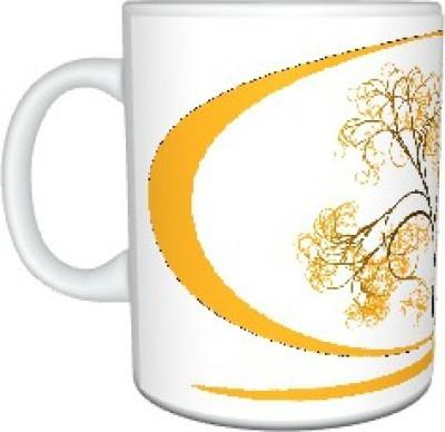 Creatives Yellow Tree Ceramic Mug