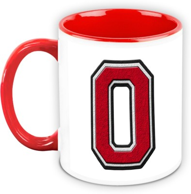 HomeSoGood Chock A Block Alphabet O Ceramic Mug