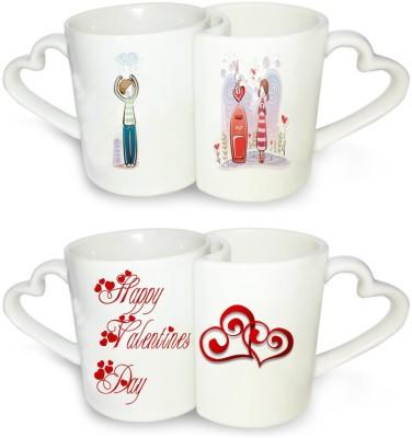 Ucard Valentines Day Love Post Couple  Set Bone China, Ceramic, Porcelain Mug