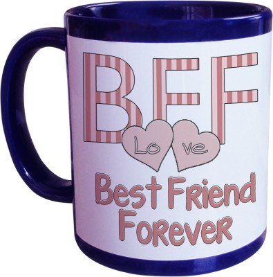 Sajawat Homes Best Friend Forever Blue Coffee Ceramic Mug