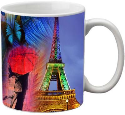 Romanshopping Eiffel Tower  Bone China Mug