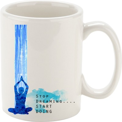 Oh Fish STOP DREAMING & START DOING GRAPHIC PRINTED COFFEE Ceramic Mug