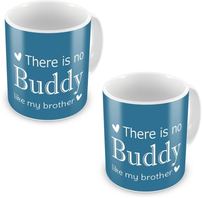 Indian Gift Emporium No Buddy is Like My Brother Quote Coffee  Pair 538 Ceramic Mug